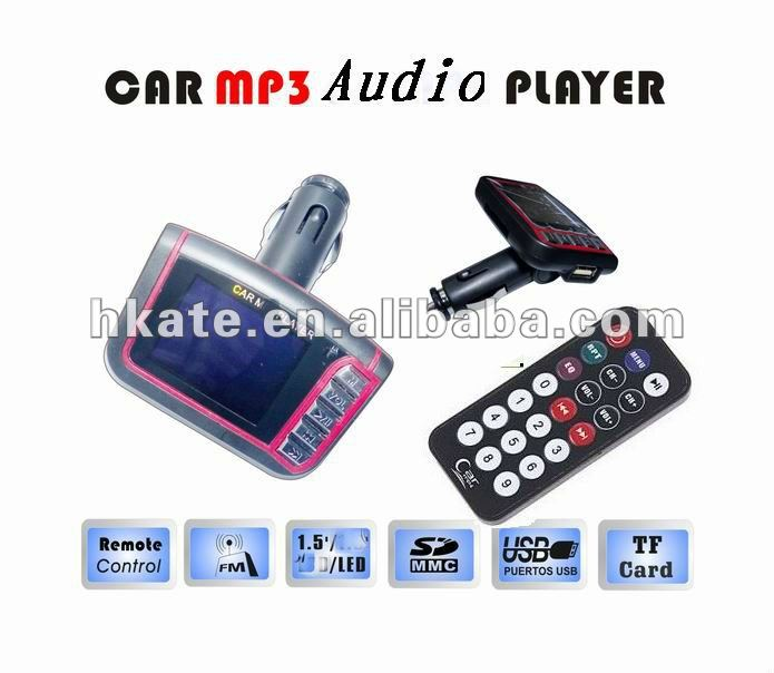 2012 vehicle/auto/ car mp3 player with wireless fm transmitter modulator 1.5 screen support remote sd/usb 1-16g m338n3(Hong Kong)