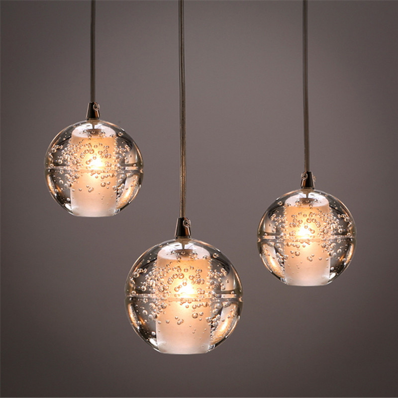 3 lights DIY Customized Meteor Crystal Chandelier Lamp Fixtures Magic Crystal Glass Ball Pendant Lamp for Dining/Living Room/Bar(China (Mainland))