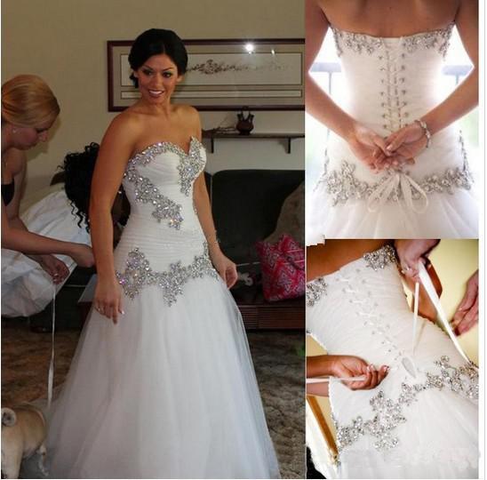 crystal wedding dresses pnina tornai a line sweetheart