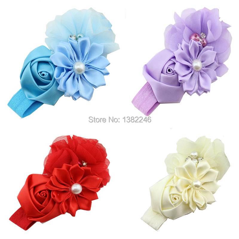 Christmas Gift Infant Toddler Baby Girls Boy Lace Flower Pearl Headband Hairband Headbands Headdress vaCg(China (Mainland))