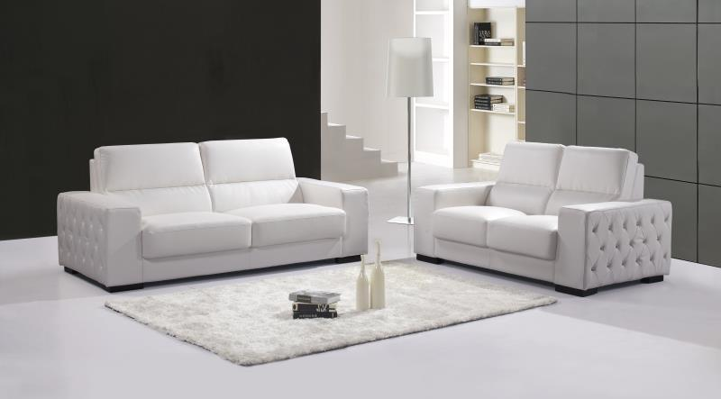 Genuine real leather sofa living room sofa set furniture 2 for White sofa set living room