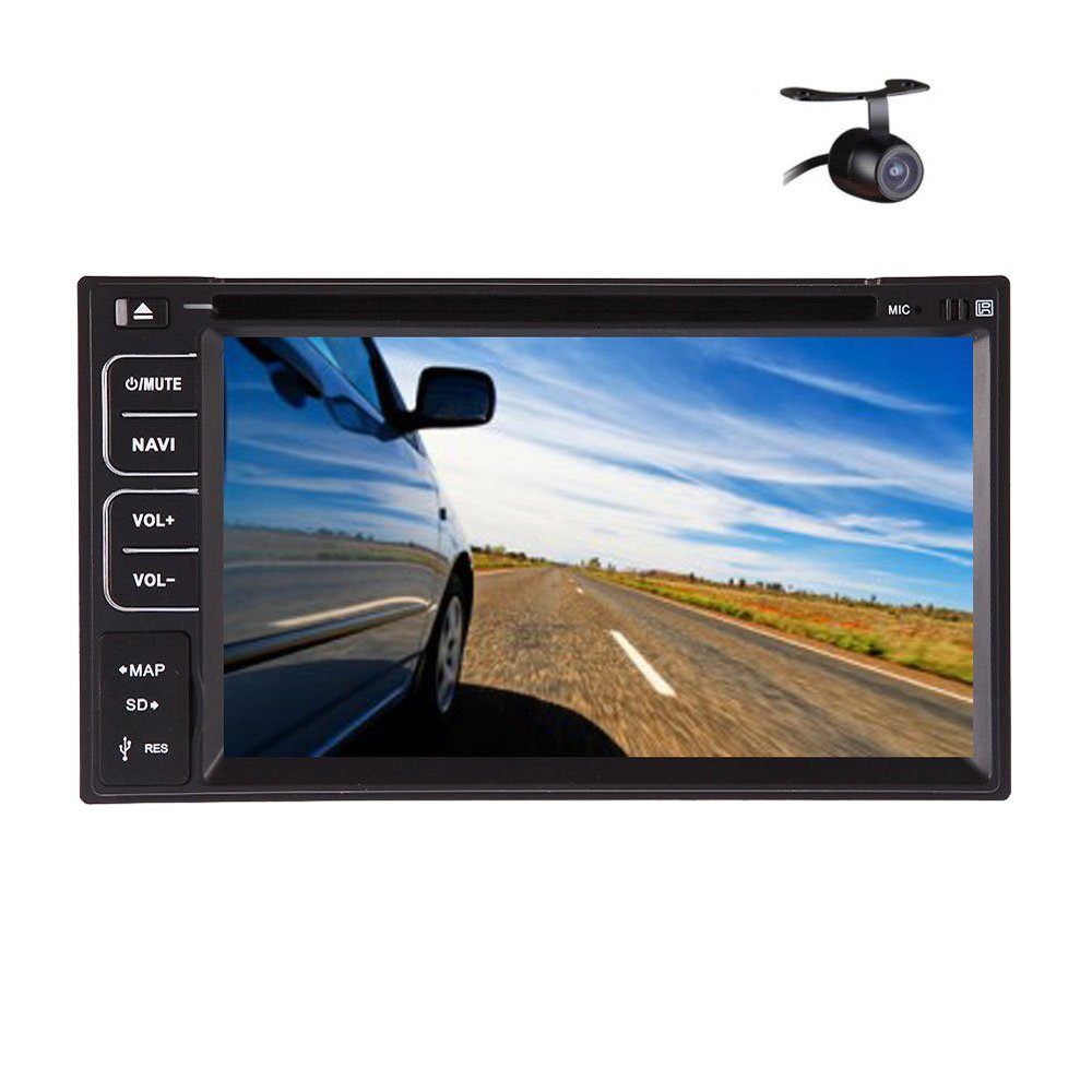 """Bluetooth Double 2 Din In Dash Head Deck 6.2"""" Inch LCD Car DVD Player Stereo Radio Mp3 SD USB RDS Auto Large LCD +Rear Camera(China (Mainland))"""