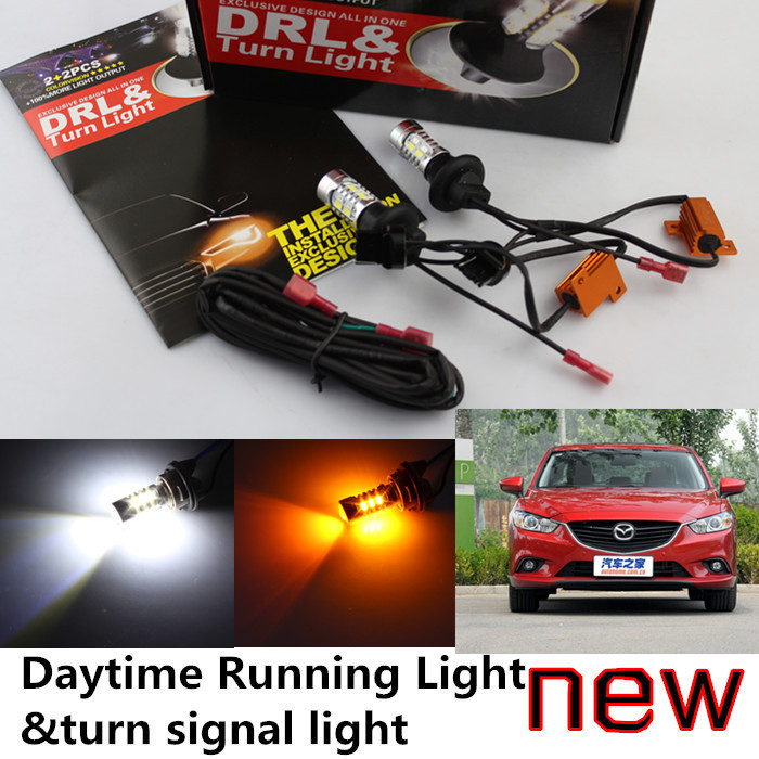 Cheetah CAR-mazda 6 ATENZA LED DRL Daytime Running Light&turn signal light one 20w high power 5 colors - auto lights shop store