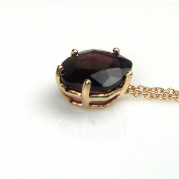 Natural Garnet Pendants,18K Rose Gold-Plated Prong Setting, Anniversary Gift For Lover,Suit For any Occasions, 2013 New Design