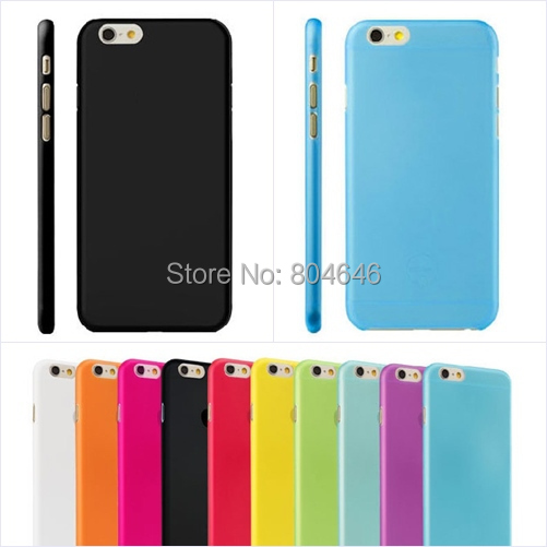 Hot 0.3mm Ultra-thin Transparent Back Cover Phone Case iPhone 6 Plus back cover free screen protector - My UU shop store