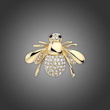 1 unid oro y plata de la abeja Unique forma atractiva de broches Pin para mujeres bellas regalos joyería venta al por mayor(China (Mainland))