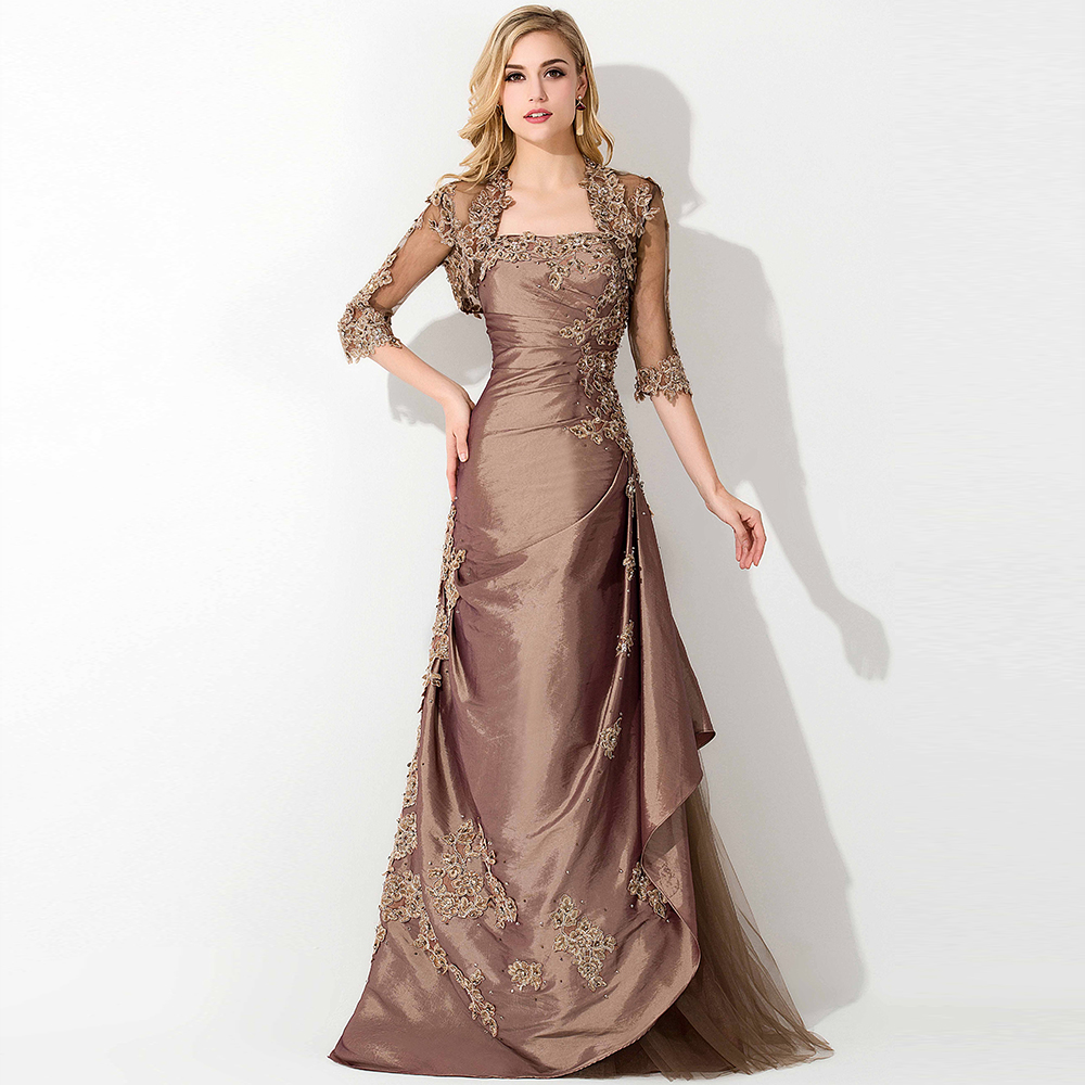 Lace jacket mother of the bride dresses with jacket formal for Cocktail dress with jacket for wedding