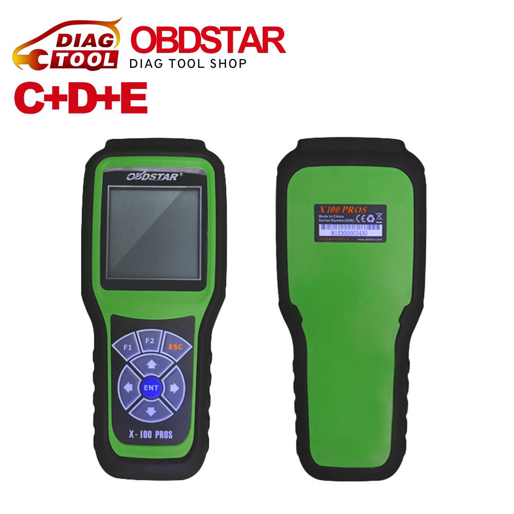 Hot Sael OBDStar Auto Key Programmer X100 PROS C+D+E model x-100 pros Odometer correction tool x100 c + d + e Free Shipping(China (Mainland))