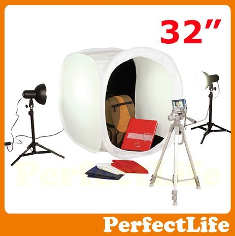 "32"" 80cm Photo Studio Light Tent Box Kit, 2 light stands,1 Tripod,4 color backgrounds hot sale A042AZ003"