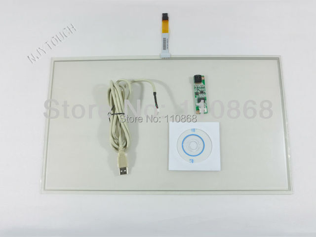 "New 18.5"" 4 Wire Resistive Touch Screen Panel Kit for 18.5 Inch LCD Panel Monitor USB 429x253mm"