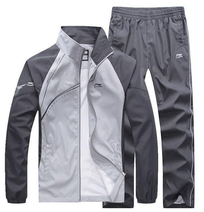 2015 New Spring Autumn Men's Sport Tracksuit Sets Hoodies Sweatshirts Sportswear Jackets Pants Two Pcs Sets Coat plus size  5xl