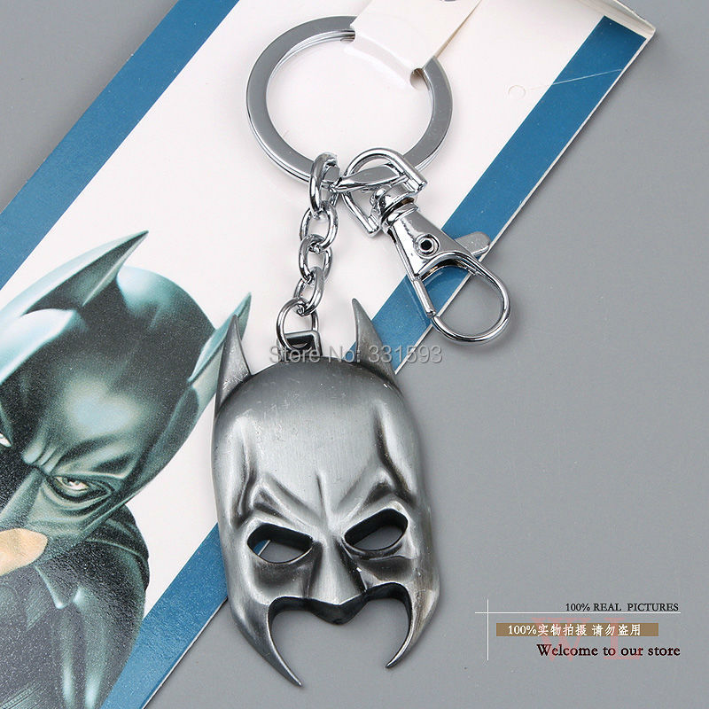 1 Super Hero Justice League Batman Mask Keychains Key Chain Metal Pendants Ring ANPD1202 - WXY-TOY LTD store