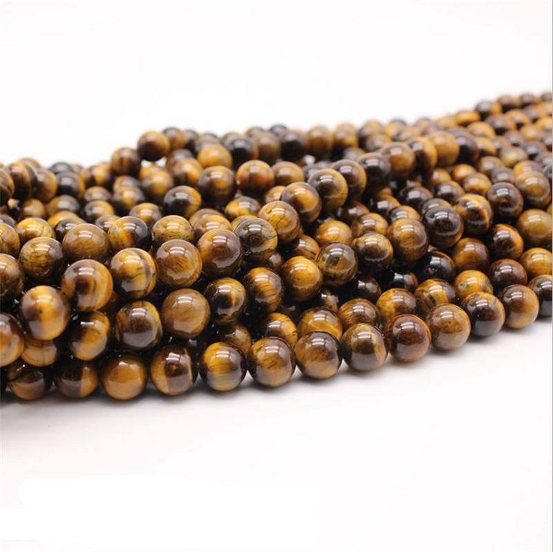 15/'/' 4//6//8//10//12mm Natural Gemstone Strand Round Yellow Tiger/'s Eye Stone Beads