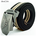 Free Shipping New Fashion Men s Military Belts Canvas Strap With Metal Buckle For Men Drop