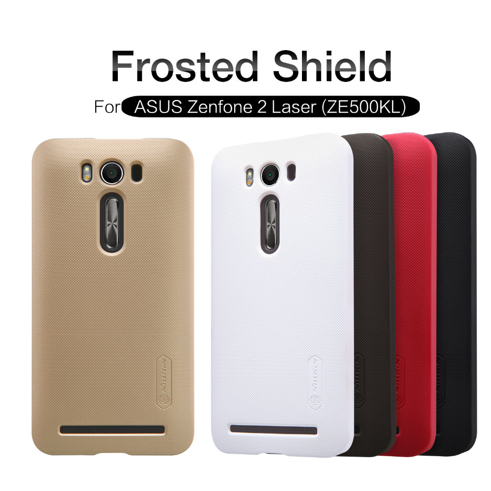 Case ASUS Zenfone 2 Laser ZE500KL Nillkin PC Matte Super Frosted Shield Back cover matte shell  -  TCFD store store