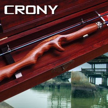 Free Shipping by EMS, CRONY CLASSIC,Wood Handle,FUJI Titanium Guide,Baitcasting Fishing Rod WTC-702M 2.13m 2sec