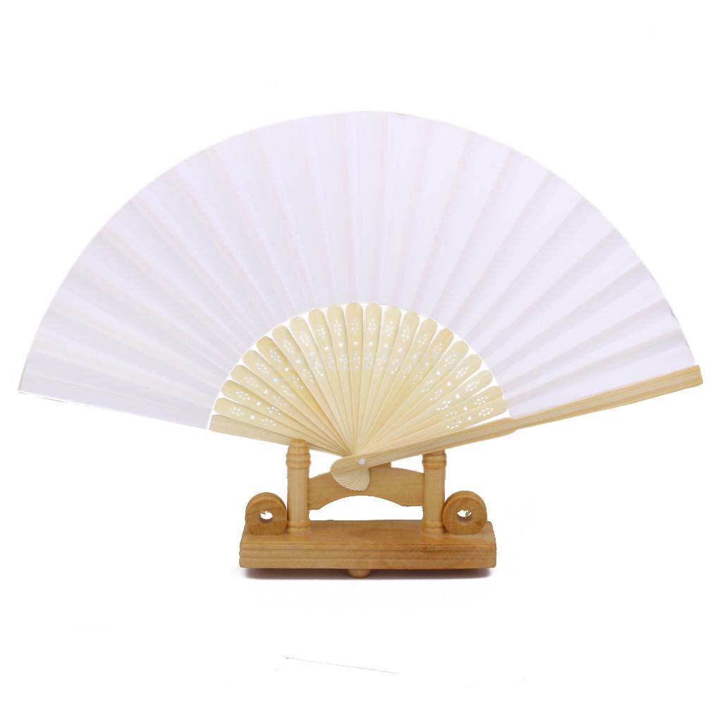 Wedding DIY Craft Fancy Dance Party Paper Hand Fan Folding Fan Free Shipping(China (Mainland))