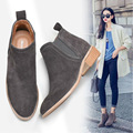 2016 new autumn Women genuine leather boots nubuck leather Martin boots Chelsea boots