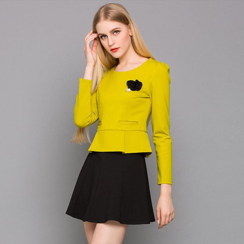 Elegant High Quality 2015 Women Skirt Suits Summer Short Sleeve Formal Office Suits Work 2 Piece Set ...