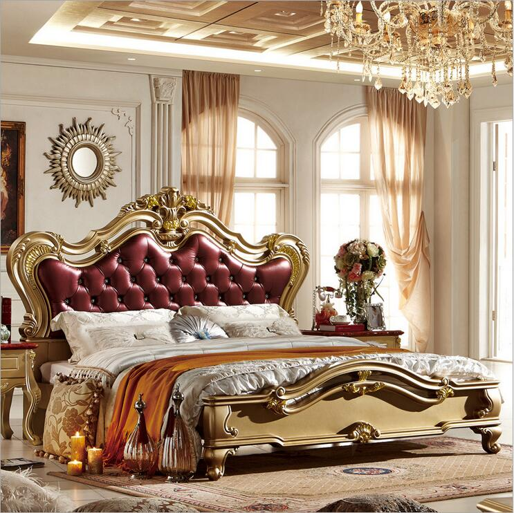 high quality bed Fashion European French Carved bedside 1.8 m bed   p10061<br><br>Aliexpress