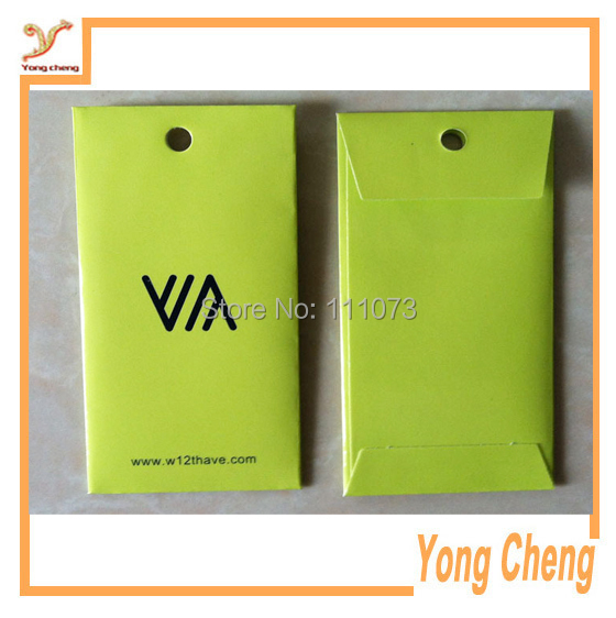 Customized logo buckle paper bag/Accessories paper bags with color printing/ Free shipping 1000pcs/lot(China (Mainland))