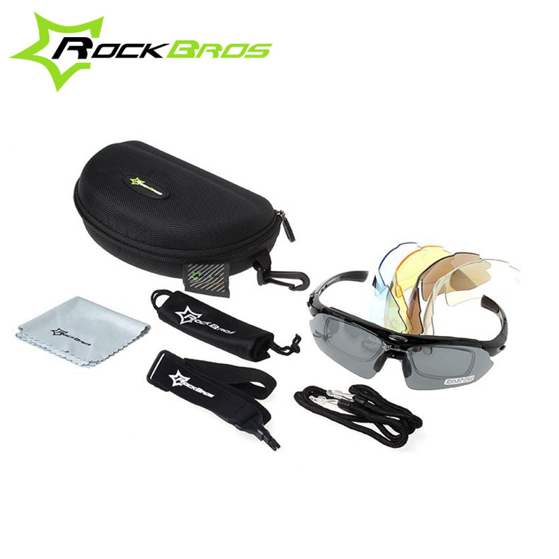 Hot! RockBros Polarized Cycling Sun Glasses Outdoor Sports Bicycle Glasses Bike Sunglasses TR90 Goggles Eyewear 5 Lens 1000