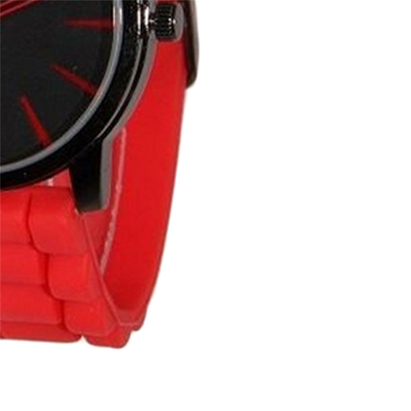 Newly Design Red Jelly Band Unisex Watches Men Women Quartz Watch June25 ZQ