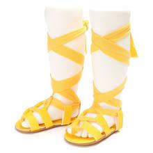 Mới đến 8 màu sắc Mùa Hè khởi động thời trang Roman cô gái trẻ em giày đấu sĩ toddler bé cô gái dép PU dép da bé(China)