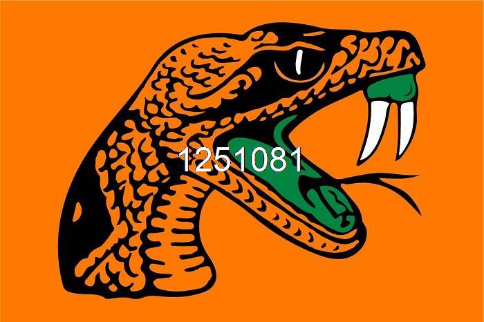 FAMU Rattlers Flag 3ft x 5ft Polyester NCAA Banner Florida A&M Rattlers Flying Size No.4 144* 96cm QingQing Flag(China (Mainland))