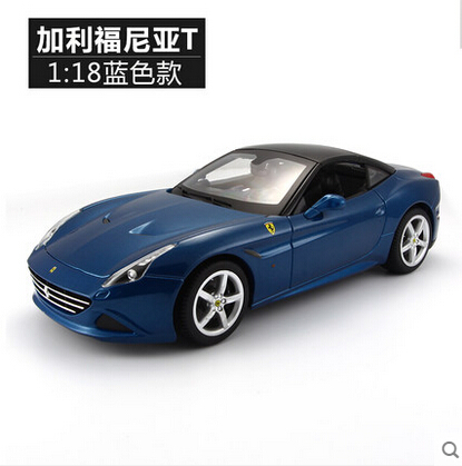 California T 1:18 Bburago Original simulation alloy car model open top Race&Play Travel supercar Fast and Furious Need for Speed(China (Mainland))