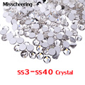 Nail Art Rhinestone 1pack SS3 SS10 Top Crystal Clear Flat Back No Hotfix Glue On Nail