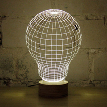 1Piece 3D Wood Mood Lamp