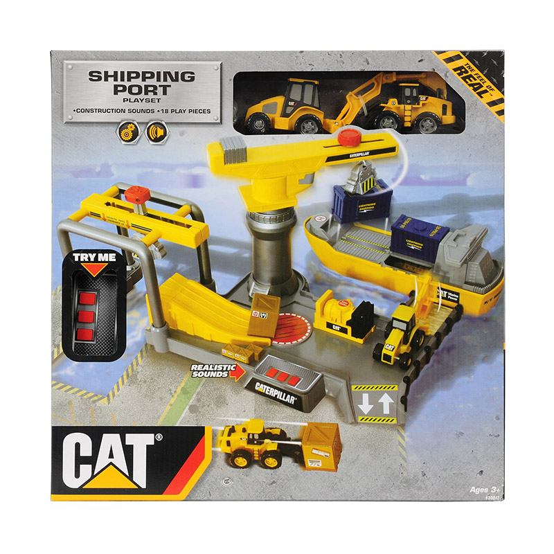 Free shipping Cat crane engineering car set toy 61 gift(China (Mainland))
