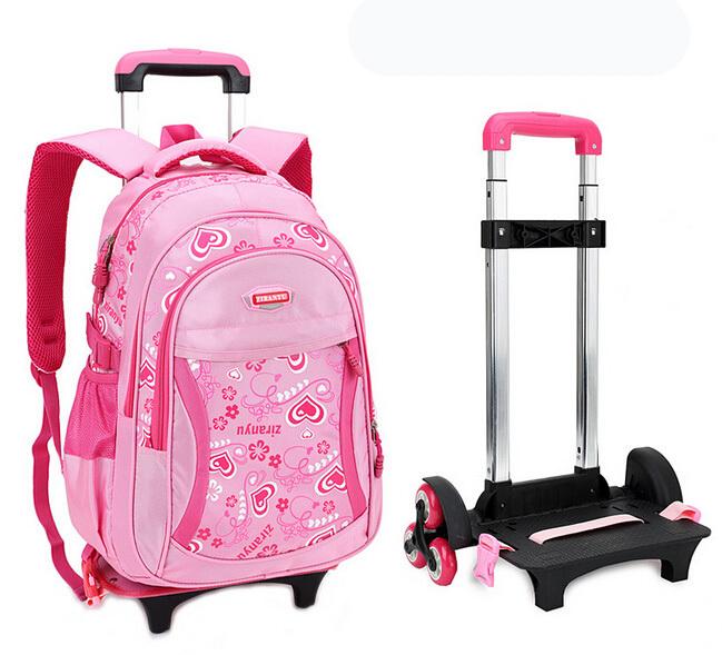 cute school bags sac d ecole a roulette pour fille. Black Bedroom Furniture Sets. Home Design Ideas