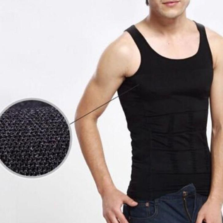 New 2015 Fashion Men Body Slimming Tummy Shaper Vest Belly Waist Girdle Shirt Shapewear Underwear