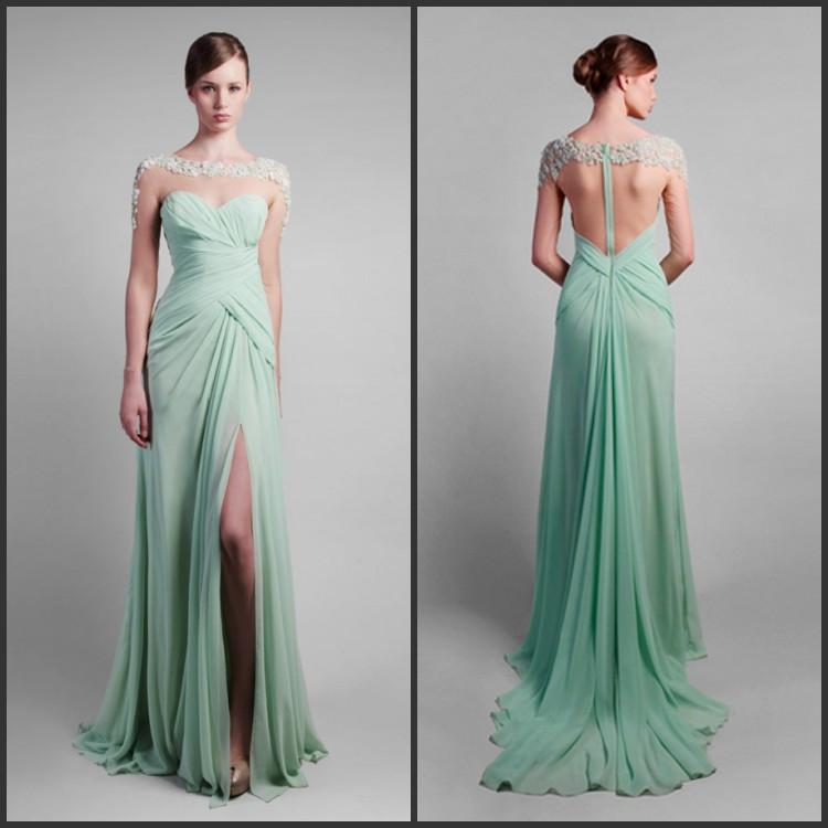 Long dress mint floor