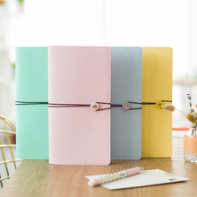 Buy Cute faux leather traveler's notebook Macaron 4 color Diary list Schedule stationery planner journal agenda for $8.33 in AliExpress store