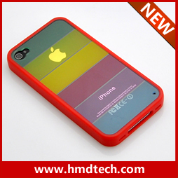FREE SHIPPING 1 PCS Retail wholesale 2013 rainbow case for iphone 4 4s
