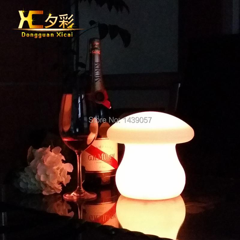 Plastic LED Table Lamp Mushroom Decor Night Light Color Changing For Bedroom Bar Club Lights(China (Mainland))