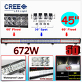 672W 45 INCH 5D CREE Chip LED Combo Work Light Bar Offroad Driving Lamp 4WD Truck