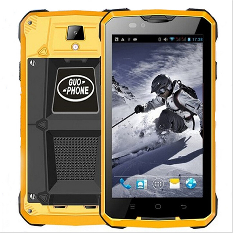 4000mAH GUOPHONE V12 Waterproof Shockproof Phone 5.0inch Android 4.4 3G GPS MTK6572 Dual Core 1.3GHZ 5MP Outdoor Cell phones(China (Mainland))