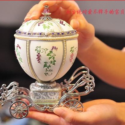 Royal Egg Carving Music Box Music Box Wedding Gifts Birthday Gift Girls InMusic Boxes From Home