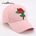 Fashion Embroider Rose Patch Adult Snapback Hats Caps Women Men Adjustable Pretty Baseball Caps Snap Back