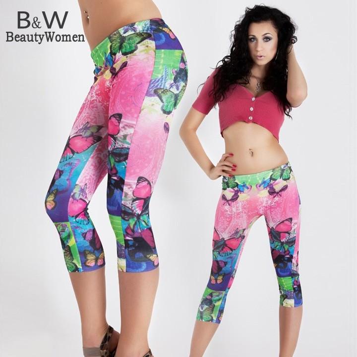New 2014 Spring Women Sexy Legging Adventure Time Sport Leggins Punk Fitness American Apparel Woman Pants Plus Size SV000672#006(China (Mainland))