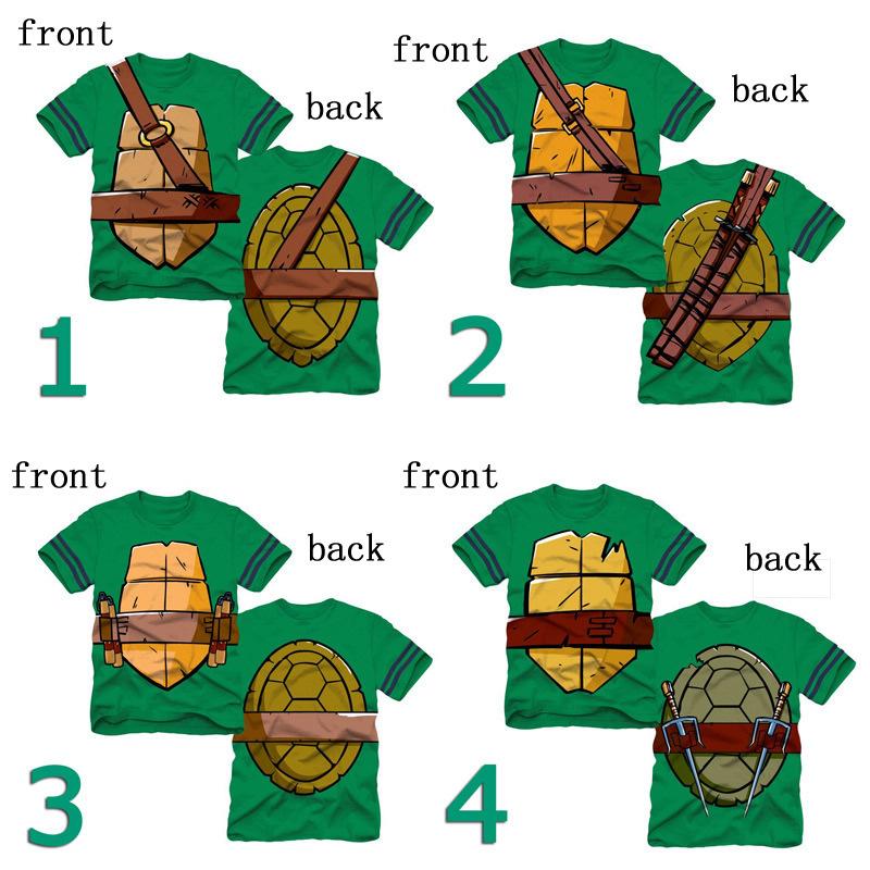 Child Teenage Mutant Ninja Turtles Tshirt 2015 Summer Kids Cartoon Clothes Sports Children's Short-Sleeved T-Shirt Child Tshirt(China (Mainland))
