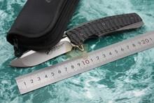 Kevin John VENOM 2 Folding Ball bearing Flipper Knife 440C blade Titanium carbon fiber handle Tactical Survival Folding Knife