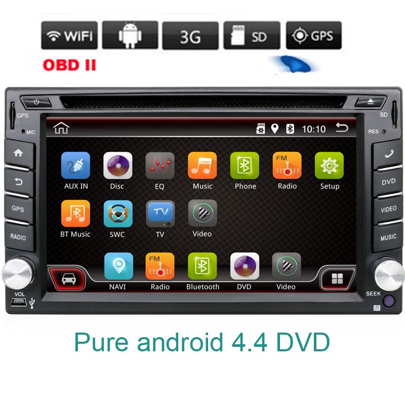 2 double din Android 4.4 Car DVD Player GPS Navi For Toyota Kia Tiida Qashqai Sunny X-Trail Paladin Frontier Patrol Versa Livina(China (Mainland))