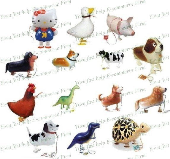 free shipping walking pet balloon mix more models or fix model you are interested