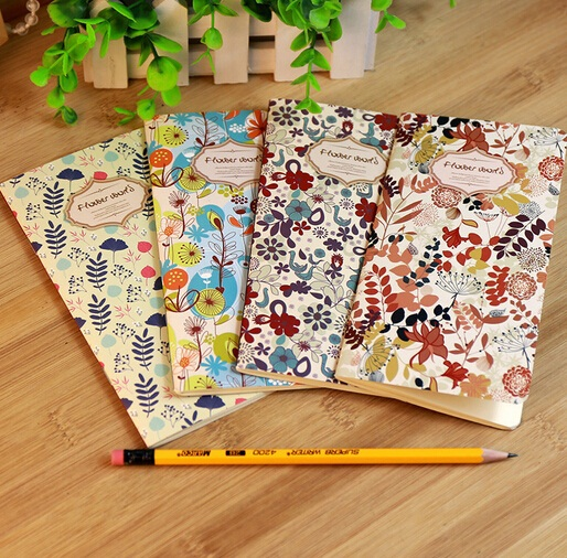 173*90mm/Vintage Fresh Flower World series Kraft Paper notebook/Korea style Diary/wholesale<br><br>Aliexpress