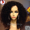 Grade 8A Top Quality Virgin Brazilian Front Lace Wigs Full Lace Wig Kinky Curly Human Hair
